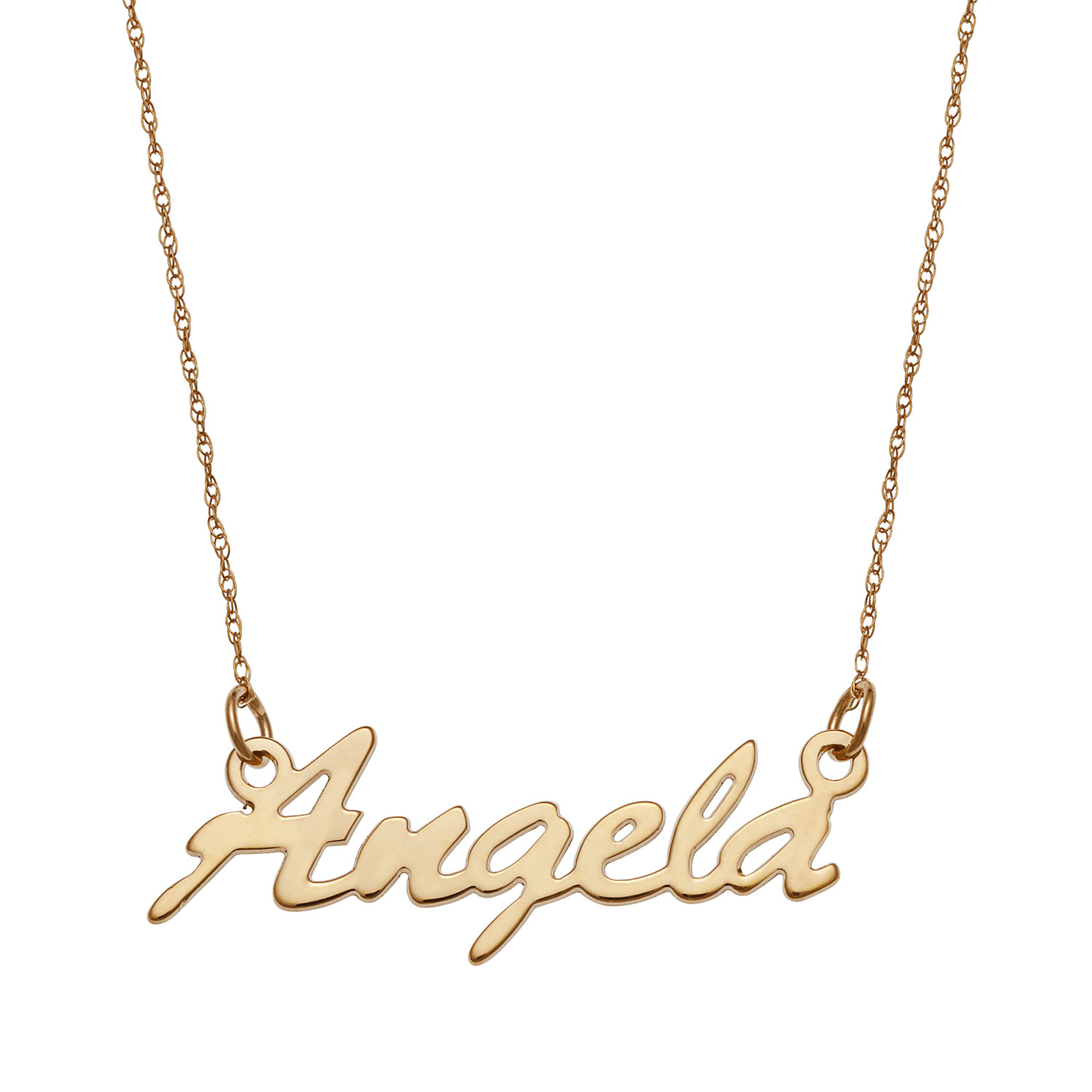 Name Necklace In 14k Gold 1 Name Gordon S Jewelers
